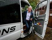 Debata v rámci projektu Deník-bus s volebními lídry za Moravskoslezský kraj. Na snímku Herbert Pavera, TOP 09