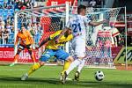 Utkání 27. kola první fotbalové ligy: FC Baník Ostrava - FK Teplice, 7. dubna 2019 v Ostravě. Na snímku (zleva) Pavel Čmovš, Daniel Holzer.