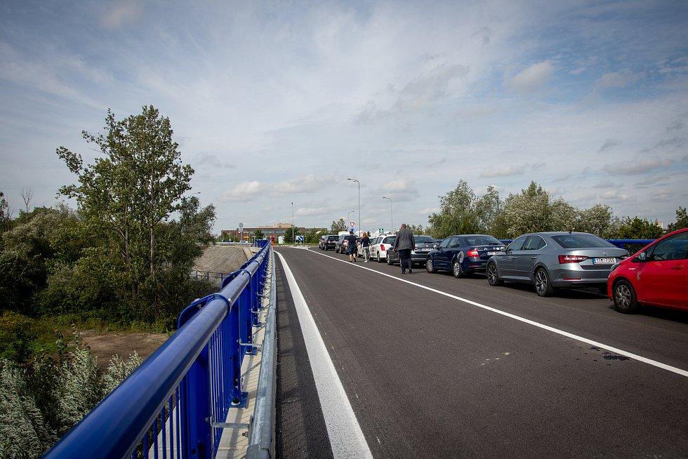 Slavnostní otevření prodloužené Mostní, 22. srpna 2019 v Ostravě-Hrabové.