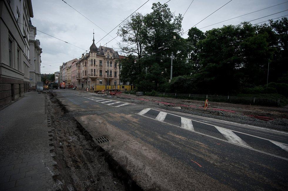 Oprava ulice Českobratrské v Ostravě, 4. července 2017. Ilustrační foto.