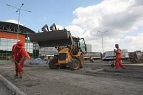 Stavba Globusu na kraji Ostravy se blíží k cíli.