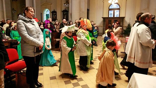 Dětská vánoční mše v Katedrále Božského spasitele v centru Ostravy.