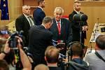 Návštěva prezidenta Miloše Zemana v Moravskoslezském kraji, 15. května 2018 v budově krajského úřadu.