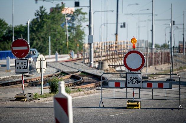 Rekonstrukce mostů ve Výškovické ulici vOstravě.