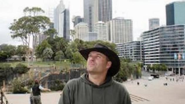 Martin Kuchař mezi mrakodrapy v Sydney