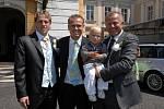 Verner Lička se syny Marcelem a Mariem. Všechny tři si fanoušci z působení v Baníku Ostrava jistě dobře pamatují.
