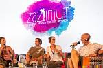 Hudební festival Colours of Ostrava 2019 v Dolní oblasti Vítkovice, 20. července 2019 v Ostravě.Přednáška s francouzskou zpěvačkou Zaz