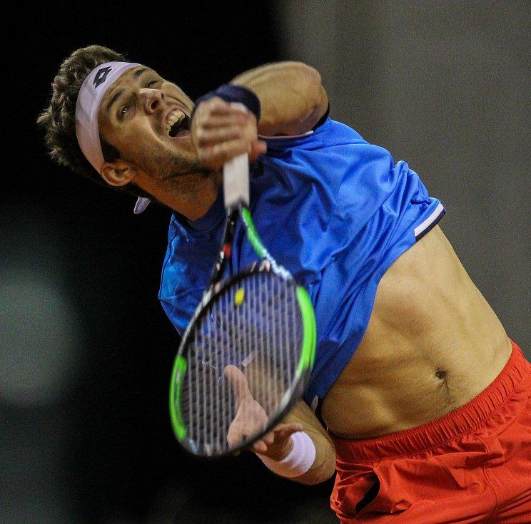 Davis Cup 2018 v Ostravě - Česko vs. Izrael, Jiří Veselý