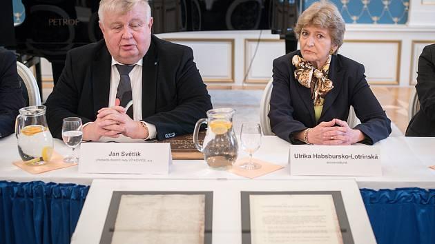 Ulrika Habsbursko-Lotrinská navštívila v prosinci 2018 Ostravu a Dolní oblast Vítkovice. Na snímku Ulrika Habsbursko-Lotrinská a Jan Světlík