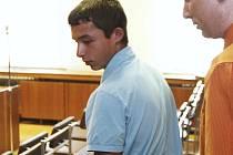 Odsouzený Josef Třiška  v soudní síni.