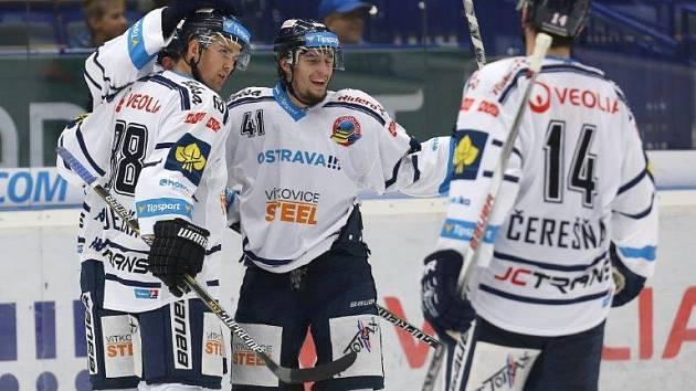 Snímek z utkání HC Vítkovice Steel - HC Energie Karlovy Vary.