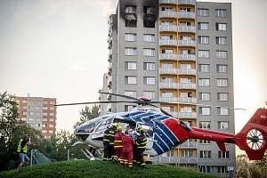 Zásah záchranářů u požáru v Bohumíně, 8. srpna 2020.