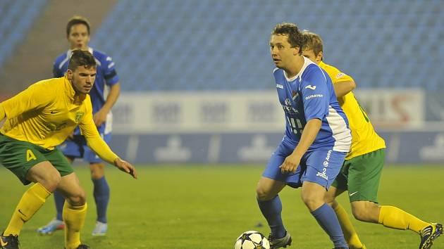 MARTIN HRNČÁR si splnil v sobotu sen, když nastoupil na pět minut za Baník v přípravném utkání s Žilinou.