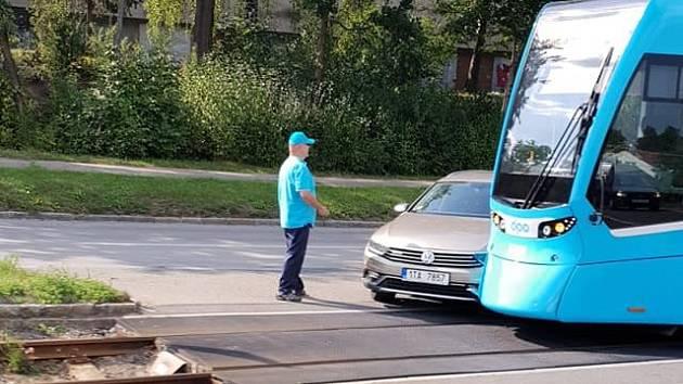 Snímek nehody, který na sociální síti Facebook zveřejnil uživatel Lukáš Jimmy Kurňakov