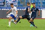 Utkaní 7. kola fotbalové FORTUNA:LIGY: FC Baník Ostrava - 1. FC Slovácko, 23. srpna 2019 v Ostravě. Na snímku (zleva) Rudolf Reiter, Marek Havlík, Jan Navrátil.