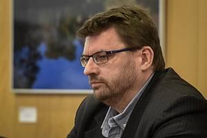 Lubomír Volný  na zasedání Krajského zastupitelstva Moravskoslezského kraje v Ostravě,  březen 2019.