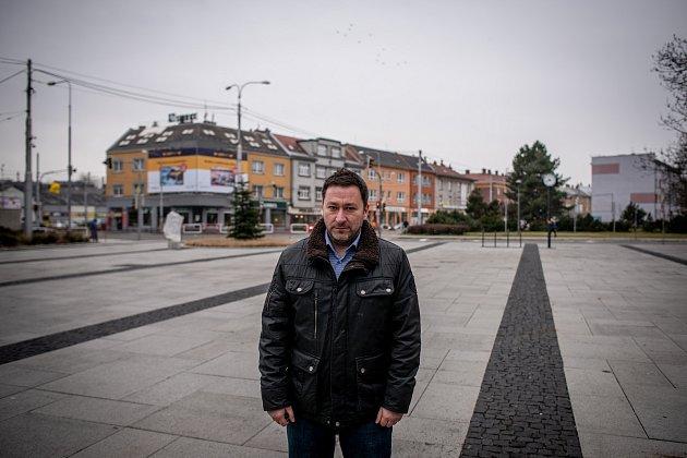 Městská část Mariánské Hory a Hulváky, 6.února 2020vOstravě. Na snímku starost obvodu Patrik Hujdus (NEZ).