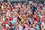 FIVB Světové série v plážovém volejbalu J&T Banka Ostrava Beach Open, 1. června 2019 v Ostravě. Na snímku fanoušci.