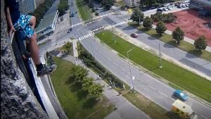 Záchrana muže v Ostravě.