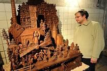 Výstava hornických a lidových betlémů se načas stala součástí expozice Dolu Michal v Ostravě-Michálkovicích.