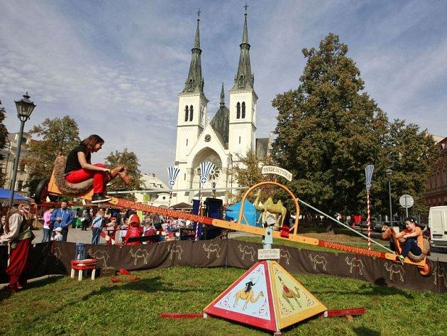 Svatováclavské slavnosti na náměstí Svatopluka Čecha v Přívoze.