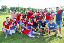 Finále krajského poháru: Velké Heraltice – Hlubina, 12. června 2019 v obci Háj ve Slezsku. Na snímku TJ Unie Hlubina.