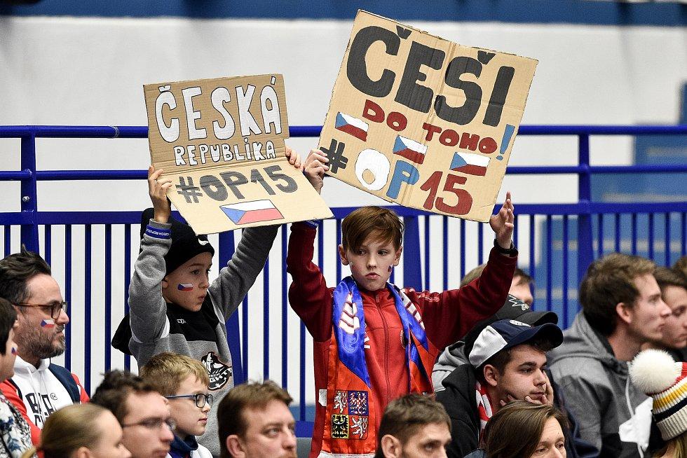 Mistrovství světa hokejistů do 20 let, čtvrtfinále: ČR - Švédsko, 2. ledna 2020 v Ostravě. Na snímku fanoušci.