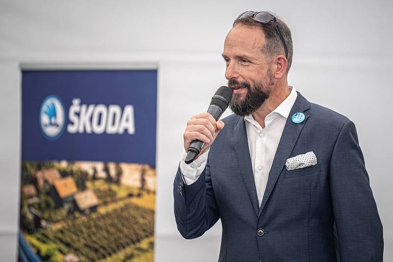 Slavnostní ceremoniál k začlenění Ekova Electric do skupiny Škoda Transportation, 9. srpna 2021 v Ostravě. Primátor Ostravy Tomáš Macura.