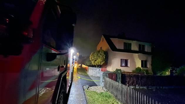 Požár kuchyně v Šenově.