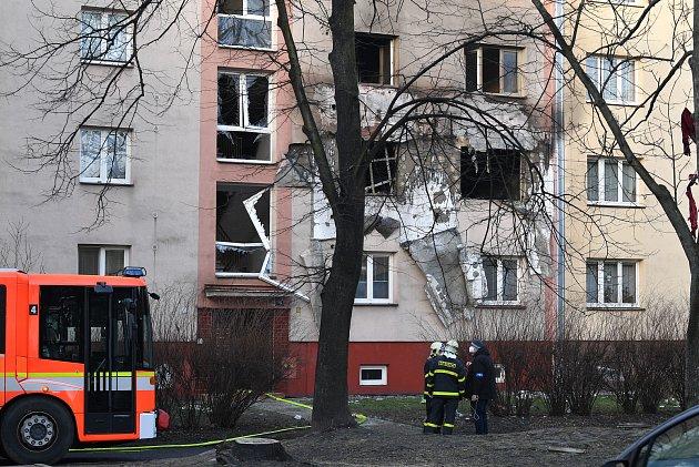 Výbuch bytu vOstravě-Hrabůvce.