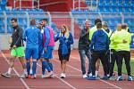 Utkání 1. kola první fotbalové ligy: FC Baník Ostrava - FC Slovan Liberec, 13. července 2019 v Ostravě. Na snímku radost Liberce.