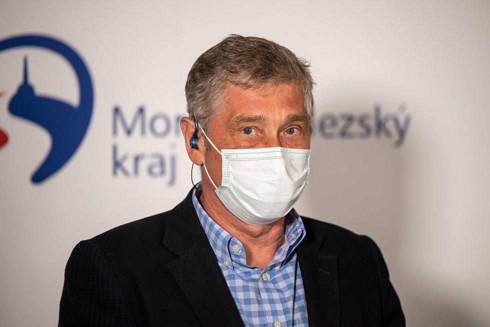 Tisková konference po krajských volbách, 4. října 2020 v Ostravě. Ivo Vondrák.