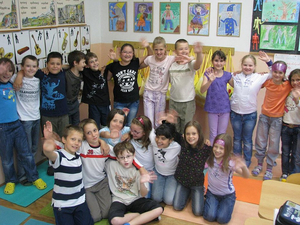 Děti z třetí třídy Základní školy Volgogradská v Ostravě-Zábřehu.