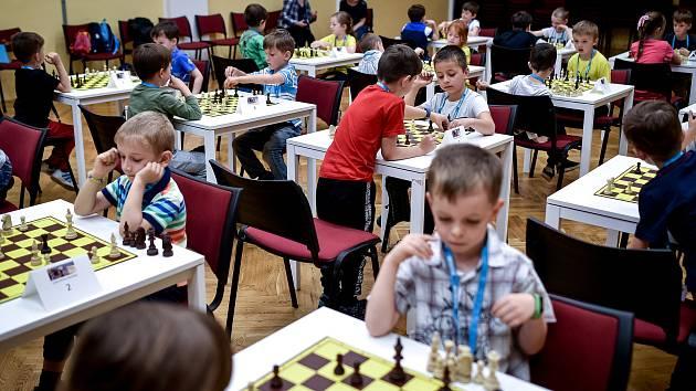 Šachový turnaj pro mateřské školky v SVČ Korunka, 28. května 2019 v Ostravě.