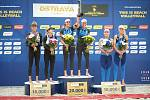 Turnaj Světového okruhu v plážovém volejbalu - semifinále, 24. června 2018 v Ostravě. Na snímku Barbora Hermannová a Markéta Sluková (střed).