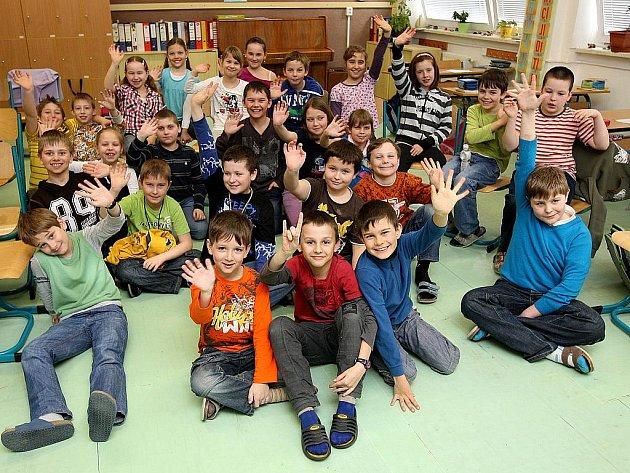 Žáci třetí třídy Základní školy v Krásném Poli.