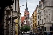 Evangelický Kristův kostel v centru Ostravy postavený v letech 1905 až 1907 ve stylu holandské renesance.
