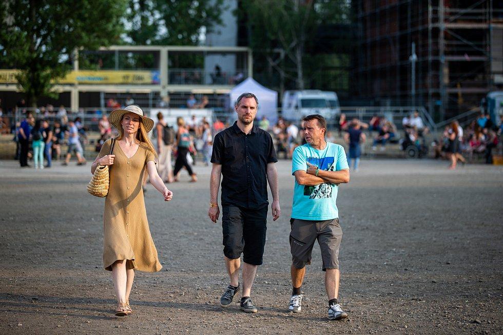 Hudební festival Colours of Ostrava 2019 v Dolní oblasti Vítkovice, 19. července 2019 v Ostravě. Na snímku primátor hlavního města Prahy Zdeněk Hřib.