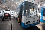 Trolejbusy s označením 14Tr a 15Tr, a nízkopodlažní typ 27Tr Solaris který vyjede naposled o víkendu 3-4. března, snímek ze dne 1. března 2018 v Ostravě.