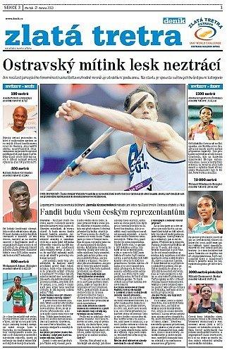 Titulní strana přílohy Zlatá tretra 2013