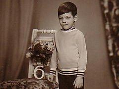 Horolezec Libor Uher na snímku v šesti letech.