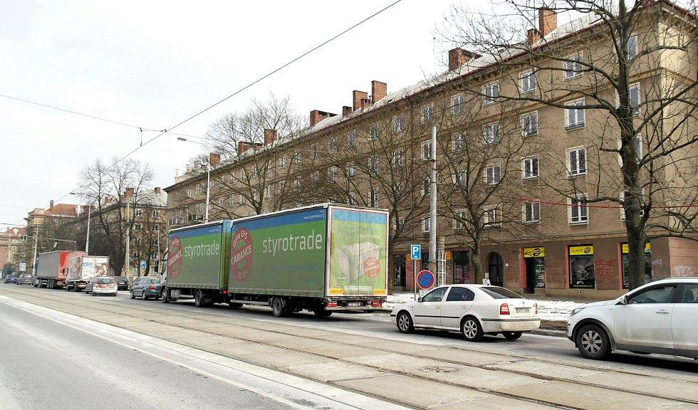 Ulice 17. listopadu v Ostravě, únor 2018. Ilustrační foto.