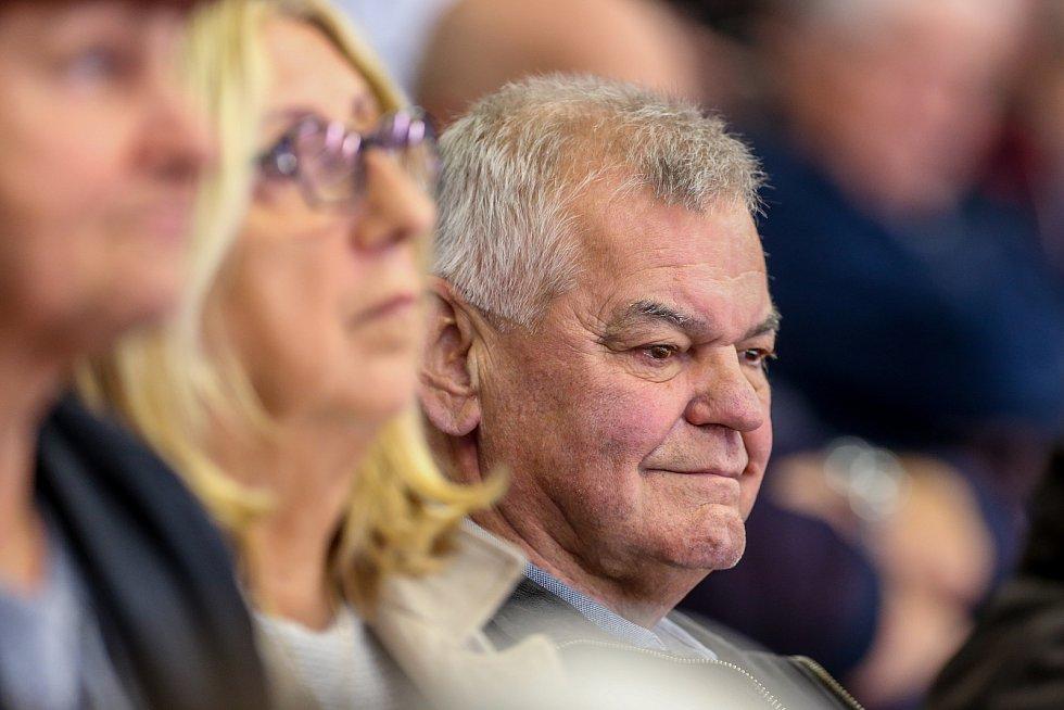 Utkání 3. kola hokejové extraligy: HC Vítkovice Ridera - Bílí Tygři Liberec, 20. září 2019 v Ostravě. Vladimír Vůjtek st.