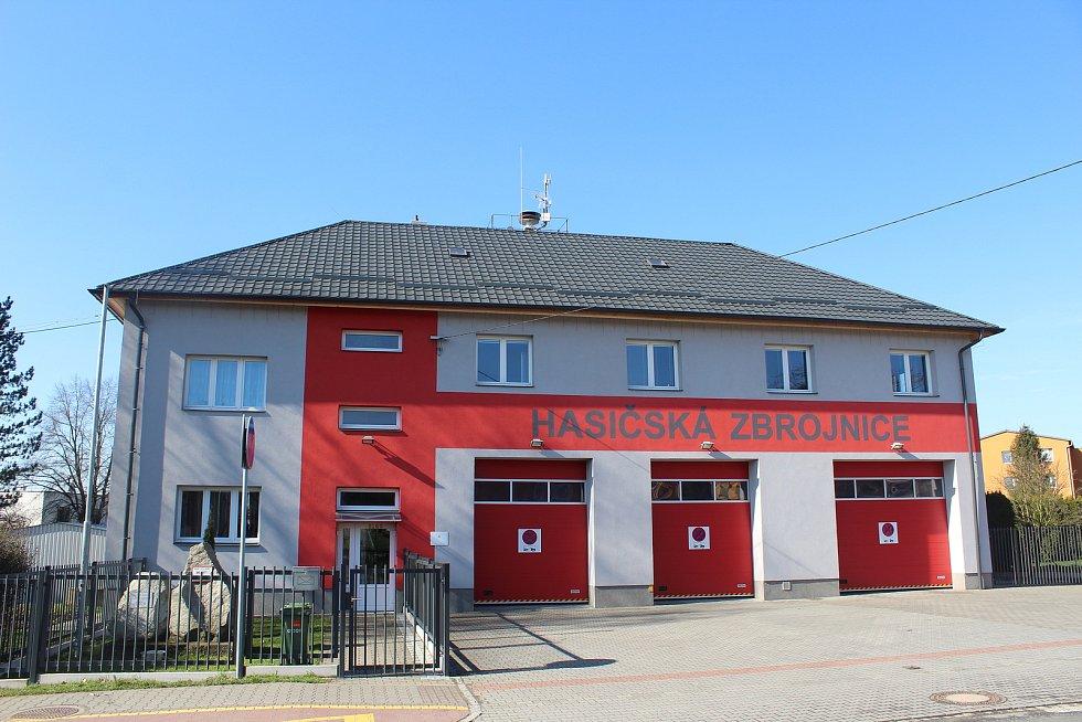 Hasičská zbrojnice v Martinově.