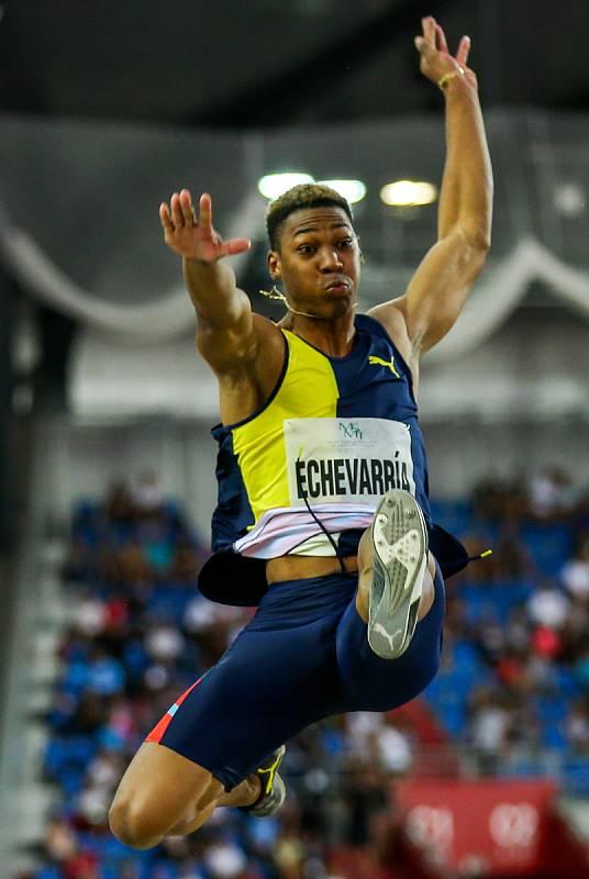 Atletický mítink IAAF World Challenge Zlatá tretra v Ostravě 20. června 2019. Na snímku Juan Miguel Echevarría z (CUB).