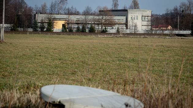 Betonová hala v Hnojníku, leden 2020.