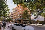 Společnost PH Rozvojová plánuje výstavbu bytového domu. Vizualizace.
