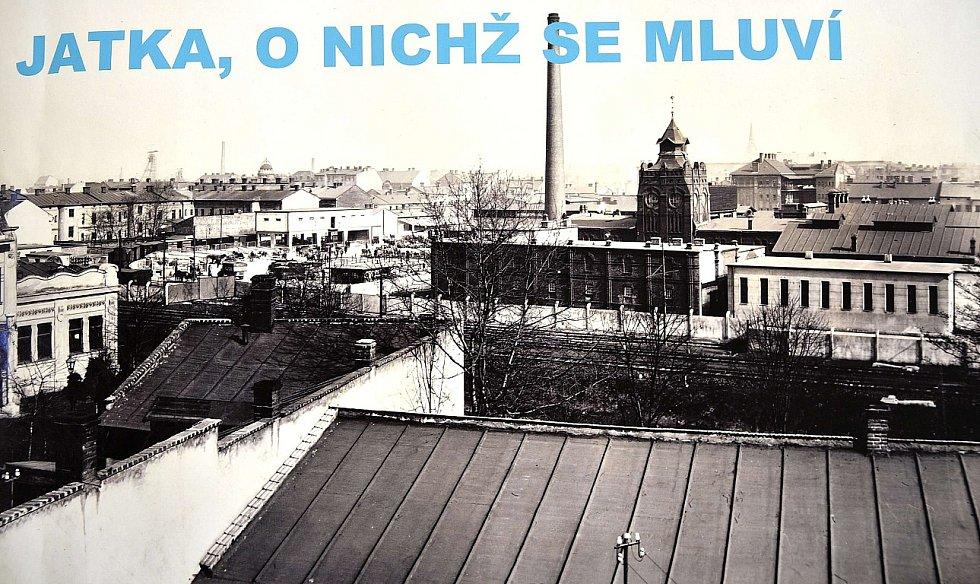 """Snímek z výstavy """"Jatka, o nichž se mluví"""" v Archivu města Ostravy v Přívoze."""