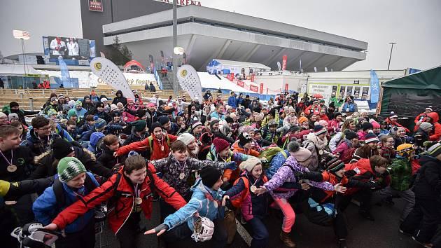 Olympijský festival u Ostravar Arény, 13. února 2018 v Ostravě.