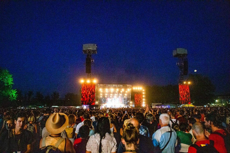 Hudební festival Colours of Ostrava 2019 v Dolní oblasti Vítkovice, 20. července 2019 v Ostravě.